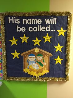 Christmas bulletin board for church.