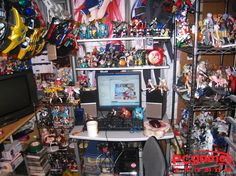 This person likes to be able to see all their figurines.