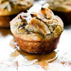 These banana bread muffins with toasted coconut are a paleo banana muffin recipe, perfect for breakfast, brunch, or a snack. Banana Bread Coconut Oil, Banana Bread Bars, Banana Bread Cookies, Chocolate Chip Banana Bread, Paleo Banana Muffins, Cupcake, Banana And Egg, Bread Cake, Toasted Coconut