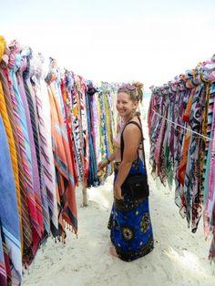 Colorful scarf market, Diani Beach, Kenya