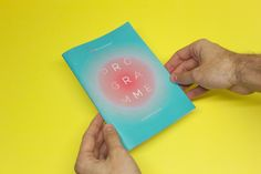 Music Festival Program 2013 by Tom Ségur, via Behance