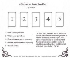 Advice spread tarot
