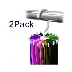 Hanger Hook Closet Tie Scarves Twirl Organizer Belts Storage Rotating Rack Scarf