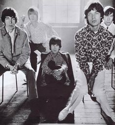 Rolling Stones when they still had five members, so this is likely to have been in the early 60s before they were solidly the four we know of today. Probably in England.