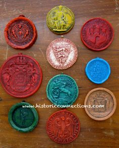 Wax Seals were used throughout history particularly the Medieval period when large ornate seal matrixes were secured to the bottom of documents securing the security of the King, the University or.... to the document. These wax seals date from the 1200s through to the 1700s and are from various Universities and guilds across Europe.