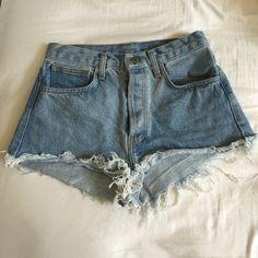 46a1722a77fb45 brandy melville vintage high waist denim shorts S Hardly worn Brandy  Melville Shorts
