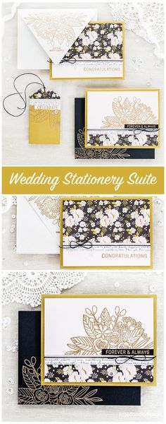 Wedding stationery suite by Debby Hughes using the Simon Says Stamp June Card Kit. Find out more about this wedding card, envelope and tag set by clicking on the following link http://limedoodledesign.com/2017/05/wedding-suite-simon-says-stamp-june-card-k