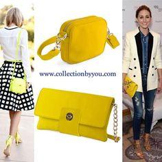 Diseñate tu bolso amarillo en www.collectionbyyou.com. #bolso #piel #amarillo #personalizado