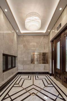 Exquisite retro lift lobby