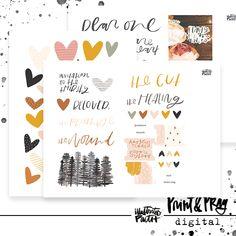 Heart Layers Digital Ephemera | Bible Journaling Printable Ephemera by Illustrated Faith Faith Bible, Illustrated Faith, Watercolour Tutorials, New Friends, Ephemera, Layers, My Arts, Invitations, Watercolor