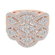 2 1/2 ct. tw. Diamond Ring in 14K Rose Gold - 2163498