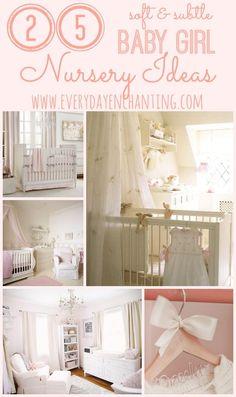 25 Soft and Subtle Baby Girl Nursery Ideas | Find inspiration for a feminine but subtle nursery from www.ninahendrick.com