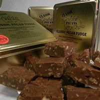 Classic Pecan Fudge!! Made with our secret Louisiana recipe, our creamy, delicious Classic Golden Pecan Fudge is the perfect blend of flavors for a delightful treat. Our fudge is brimming with Classic Golden Pecan pieces to create a gift that will delight your clients, friends and family!