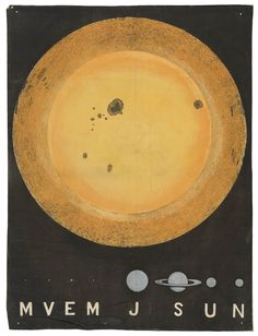 The Sun, 3 ft diameter, & comparative size of planets - National Maritime Museum