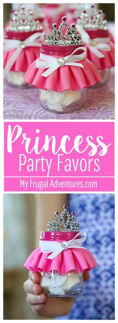 Party Favors Simple DIY princess or ballerina party favors. So cute and a guaranteed hit at your next party.Simple DIY princess or ballerina party favors. So cute and a guaranteed hit at your next party. Ballerina Party Favors, Ballerina Birthday Parties, Disney Princess Birthday, Barbie Birthday, Ballerina Party Decorations, 1st Birthday Party Favors, Princess Birthday Party Decorations, Birthday Crowns, 21st Party