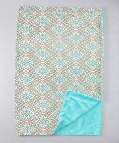 Dust Bunnies Aqua Valencia Marina Blanket