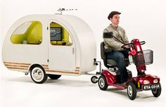 scooter and trailer