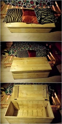 Have you ever thought about availing the use of the wood pallet in the splendid creation of the storage box? If not, then this image will be making you crazy to have such creation as part of your house. This storage set is much offered with the simple innovative form of the artwork stroke.