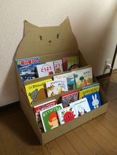 Diy Cardboard Furniture, Cardboard Box Crafts, Cardboard Toys, Newspaper Crafts, Cardboard Box Storage, Diy For Kids, Crafts For Kids, Bookshelves Kids, Craft Stalls
