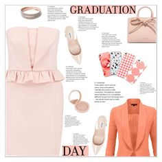 """""""Graduation Day"""" by atelier-briella ❤ liked on Polyvore featuring RED Valentino, LE3NO, Mansur Gavriel, Dune, Bourjois, Graduation, chic, Elegant and iPhonecases"""