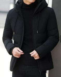 New Jacket Coats Thick Warm Jackets Casual Parka Hooded - ecofashionova Mens Parka Jacket, Fur Collar Jacket, Black Bomber Jacket, Woolen Clothes, Denim Jacket Fashion, Padded Jacket, Mens Sweatshirts, Winter Jackets, Warm Jackets
