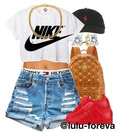 """""""Untitled #1228"""" by lulu-foreva ❤ liked on Polyvore featuring MCM, Polo Ralph Lauren, Tommy Hilfiger, adidas, CC and NIKE"""