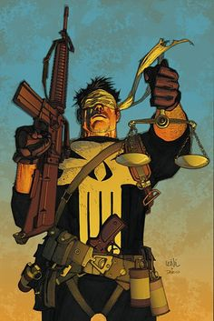 The justice system is blind but the citizens under it are not, the system tries its best to use justice to cripple us from power of truth. If the law acts as a god in heaven then the victims of evil are the demons. The Punisher, Punisher Comics, Punisher Netflix, Marvel Comic Character, Marvel Characters, Comic Book Characters, Comic Books Art, Book Art, Dc Comics