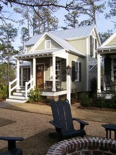 porch awning- simple and straightforward Small Lake Cottage Design Ideas, Pictures, Remodel and Decor