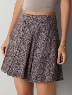 Don't Ask Why Printed Circle Skirt