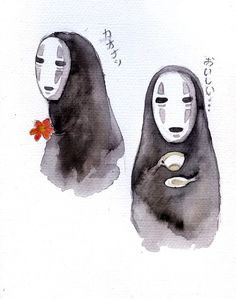 """No face..."" love this movie... Spirited Away <3"