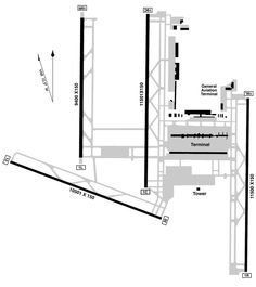 airport runway layout diagrams airport diagram airport. Black Bedroom Furniture Sets. Home Design Ideas