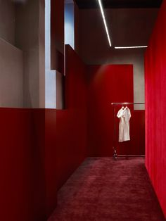 ACNE STUDIOS Pilestræde 40, Copenhagen  Executed in an entirely red palette…