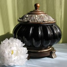 Memorial Ashes Urn. XLarge Jar with Ornate by AnythingDiscovered, $95.00