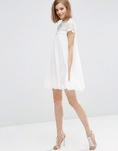 Pin for Later  Take Inspiration From Wimbledon With 37 Little White Numbers  Asos Lace Top Pleated Mini Swing Dress Asos Lace Top Pleated Mini Swing  Dress aae0dfb3400e