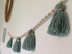 Tuto - Guirlande laine et bois