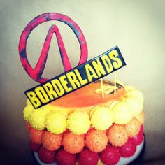 cake baller cake ball cake, gamer style. Because #birthdays can have #videogame #style #cakes in them. #badtothebone #surprise #borderlands #red #yellow #orange #thecakeballers #cakeballers #cakeballer www.thecakeballers.com #boiseballers #idahohasfun #gamer
