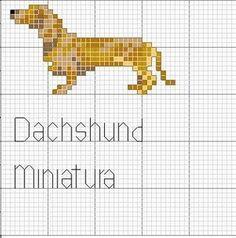 Miniature Dachshund Cross Stitch Motif Peyote Stitch Patterns, Counted Cross Stitch Patterns, Beading Patterns, Embroidery Patterns, Bobble Stitch, Brick Patterns, Cross Stitch Animals, Dog Pattern, Tapestry Crochet