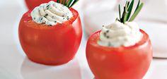 Sandra Lee Stuffed Tomatoes - Rosemary and Pepper Cheese