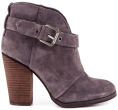 Colored suede booties