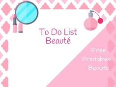 To Do List Beauté #b