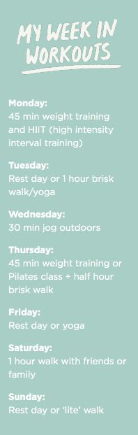 Example Workout Schedule