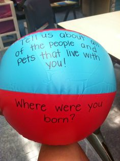 First day of school activity! Tell us about your summer. Where did you go? Who did you meet?