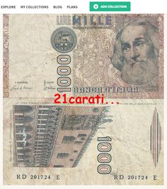 1980's 1000 Lire Polo at kollectbox.com Join kollectbox.com - The Marketplace for Stamp, Coin and Banknote Collectors #marketplace   #ecommerce   #startup   #tech   #papermoney   #banknotes   #collectors   #collectibles   #hobby   #notas   #numismatics
