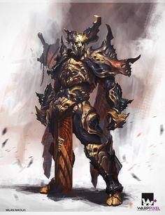 Warrior Armor concept, Milan Nikolic on ArtStation at http://www.artstation.com/artwork/warrior-armor-concept