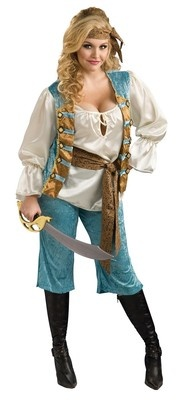 Pirate Queen Caribbean Wench Girl Dress Up Halloween Plus Size Adult Costume | eBay
