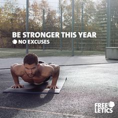 Start every day this year with a new promise: Promise to yourself that you will be stronger no matter what. It does not matter what other people say. It does not matter what happens around you. Focus on yourself and work hard to improve day after day. Be Stronger. No excuses. ►►► www.frltcs.com/Athlete #Freeletics