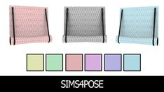 Sims4Pose ms 4 Pose: Jules Curtain Knitted {Curtain}