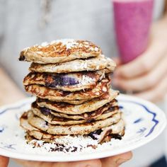 Buckwheat and Blueberry Pancakes