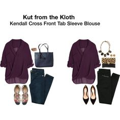 """""""Kendall Cross Front Tab Sleeve Blouse"""" from Stitchfix - really hoping to get this in my next #stitchfix!!"""