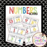 I Have Who Has...Numbers activity!  Created by That Creative Teacher